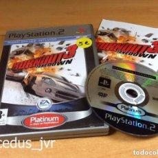 Videojuegos y Consolas: BURNOUT 3 TAKEDOWN JUEGO PARA SONY PLAYSTATION 2 PLAY STATION PS2 PAL ESPAÑA COMPLETO. Lote 94769515