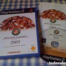 Videojuegos y Consolas: ROLAND GARROS PARIS 2005 JUEGO PARA PLAYSTATION PLAY STATION PS2 PAL VERSIÓN ESPAÑOLA COMPLETO. Lote 94837895