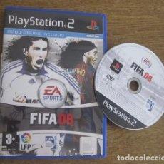 Videojuegos y Consolas: FIFA 08 JUEGO PLAYSTATION 2 PAL VINTAGE EA SPORTS 2007 SIN LIBRO DE INSTRUCCIONES. Lote 95044367