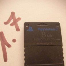 Videojuegos y Consolas: TARJETA MEMORY CARD 8 MB PARA PS. Lote 96327191