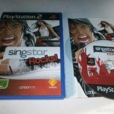 Videojuegos y Consolas: SINGSTAR ROCKS PLAYSTATION 2 PAL ESPAÑA COMPLETO. Lote 96343535