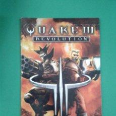 Videojuegos y Consolas: QUAKE III REVOLUTION (SOLO MANUAL). Lote 96908635