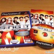 Videojuegos y Consolas: SING IT POP HITS KARAOKE SINGSTAR DISNEY PLAYSTATION 2 PLAY STATION PS2 PAL ESPAÑA BUEN ESTADO. Lote 97689115