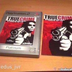 Videojuegos y Consolas: TRUE CRIME STREETS OF LA L.A. CAJA E INSTRUCCIONES DEL JUEGO PARA SONY PLAYSTATION 2 PS2 PAL. Lote 97956023