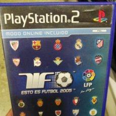 Videojuegos y Consolas: JUEGO PLAYSTATION II ESTO ES FUTBOL 2005 PS2. Lote 98561871