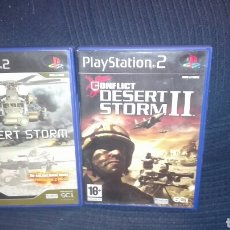 Videojuegos y Consolas: CONFLICT : DESERT STORM I Y II - PLAYSTATION 2 - PACK LOTE 2 DISCOS. Lote 98657210