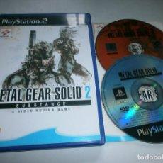Videojuegos y Consolas: METAL GEAR SOLID 2 SUBSTANCE PLAYSTATION 2 PAL ESPAÑA (DOS DISCOS). Lote 100205423