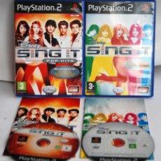 Videojuegos y Consolas: SING IT POP HITS Y SING IT HANNAH MONTANA CAMO ROCK DE PLAYSTATION 2 COMPLETOS PSX PS PLAY STATION. Lote 101138303