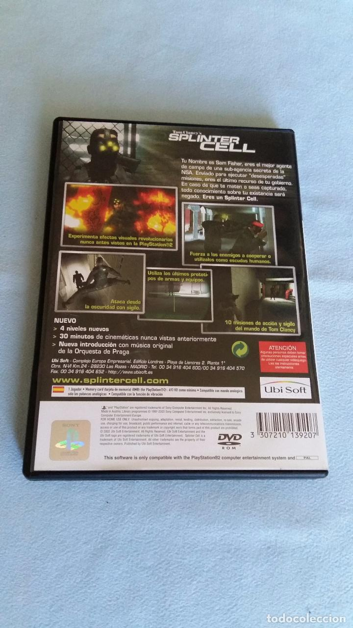 tom clancy s splinter cell playstation 2 pa comprar rh todocoleccion net Sony PS2 PlayStation 2 Manual PlayStation Wireless Headset Manual