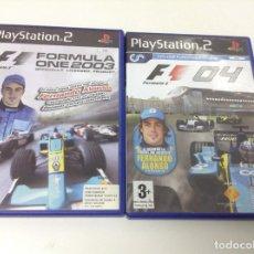 Videojuegos y Consolas: PACK. LOTE 2 JUEGOS FORMULA ONE 2003 + FORMULA 0NE 04. Lote 107802107