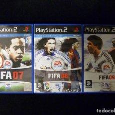 Videojuegos y Consolas: LOTE FIFA 07, 08 Y 09. PLAY STATION PS2. COMPLETO. TODO EN CASTELLANO. Lote 112384711
