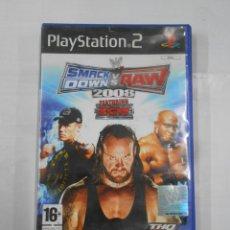 Videojuegos y Consolas: SMACK DOWN SMACKDOWN VS RAW 2008 SONY PLAY STATION PLAYSTATION PS2. TDKV16. Lote 115716463