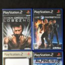 Videojuegos y Consolas: LOTE 4 JUEGOS PS2 PLAYSTATION X MEN ORIGENES LOBEZNO LOS 4 FANTASTICOS FINAL FANTASY X-2 ALPINE SKI. Lote 56119142