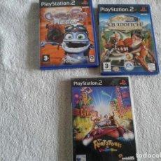 Videojuegos y Consolas: LOTE TRES JUEGOS PS2 HARRY POTTER FLINTSTONES. Lote 117422235