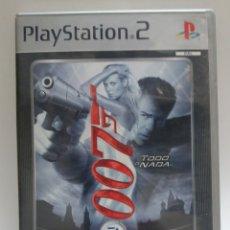 Videojuegos y Consolas: JUEGO PS2 007 TODO O NADA+ FICHA COLECCIONABLE. Lote 117806104