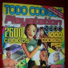Videojuegos y Consolas: REVISTA PLAYSTATION TODO CÓDIGOS:2600+1000 CÓD. PS2,NUEVOS TRUCOS PARA PSX. 98PÁG. NUEVA,COMPLETA. Lote 118333283