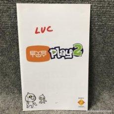 Videojuegos y Consolas: EYETOY PLAY 2 INSTRUCCIONES ESP SONY PLAYSTATION 2. Lote 119404162