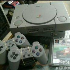 Videojuegos y Consolas: PLAYSTATION PACK CONSOLA+2 MANDOS+1 JUEGO PS1. Lote 121862171