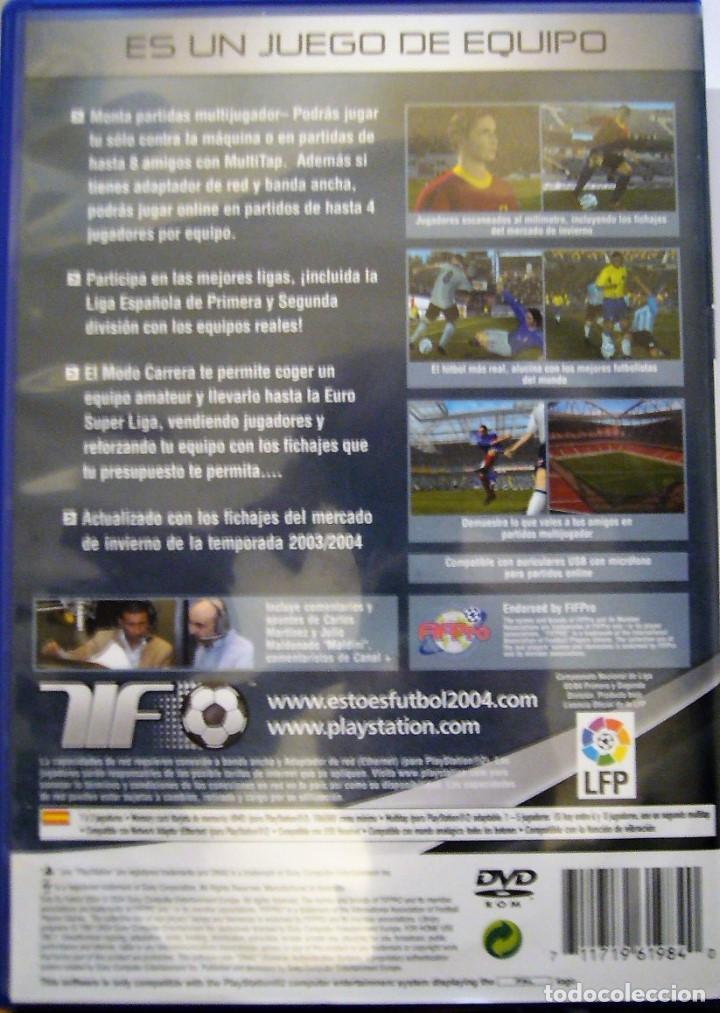 Videojuegos y Consolas: ESTO ES FÚTBOL 2004 - PS2 - Foto 2 - 122944007