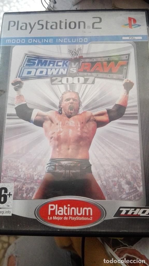 SMACK DOWN SMACKDOWN VS RAW 2007 JUEGO PARA PLAYSTATION (Juguetes - Videojuegos y Consolas - Sony - PS2)