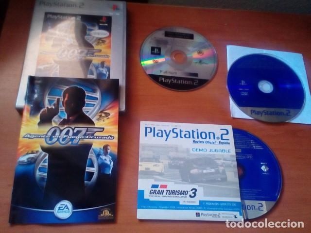 LOTE PS2 - AGENTE 007 EN FUEGO CRUZADO JUEGO + DOS DISCOS DE DEMOS JUGABLES PS2 - PLAYSTATION 2 (Juguetes - Videojuegos y Consolas - Sony - PS2)
