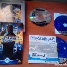 Videojuegos y Consolas: LOTE PS2 - AGENTE 007 EN FUEGO CRUZADO JUEGO + DOS DISCOS DE DEMOS JUGABLES PS2 - PLAYSTATION 2. Lote 125391875