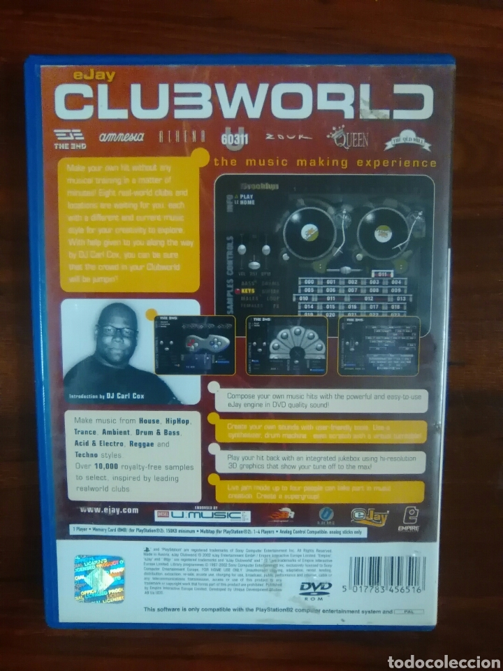 EJAY - CLUBWORLD - SONY PLAYSTATION 2 - PS2 - PS3 - PAL - COMPLETO