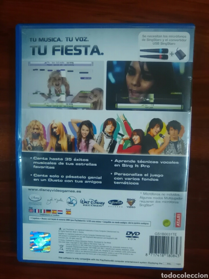 Videojuegos y Consolas: DISNEY SING IT - SONY PLAYSTATION 2 - PS2 - PS3 - PAL - CANTAR - SINGSTAR - Foto 4 - 95149643