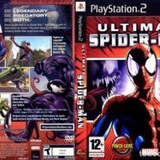 Videojuegos y Consolas: CAJA VACIA Y INSTRUCCIONES *ULTIMATE SPIDER-MAN* PARA PS2 .....EXCELENTE ESTADO.. Lote 128836211