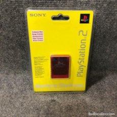 Videojuegos y Consolas: MEMORY CARD 8MB ROJO TRANSPARENTE NUEVO SONY PLAYSTATION 2. Lote 129404348