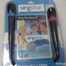 Videojuegos y Consolas: SINGSTAR PARTY + MICROFONOS. Lote 131748790