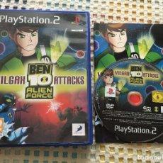 Videojuegos y Consolas: BEN 10 ALIEN FORCE VILGAX ATTACKS PS2 PLAYSTATION TWO PLAY STATION 2 KREATEN. Lote 132338706