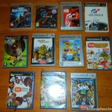 Videojuegos y Consolas: PLAY 2 Y 3 LOTE VARIADO JUEGOS CRASH,GRAN TURISMO,SIMPSONS...... Lote 133687338