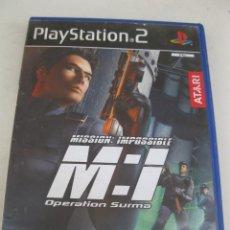 Videojuegos y Consolas: MISSION IMPOSSIBLE - OPERATION SURMA - JUEGO PARA PLAYSTATION 2.. Lote 133726774