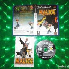 Videojuegos y Consolas: MALICE - PS2 - SLES 52413 - ARGONAUT GAMES - EDICION NO ESPAÑOLA. Lote 134227466