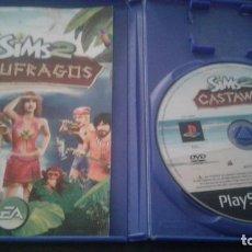 Videojuegos y Consolas: SIMS 2 NAUFRAGOS PAL ESPAÑA COMPLETO PLAYSTATION 2. Lote 135941906