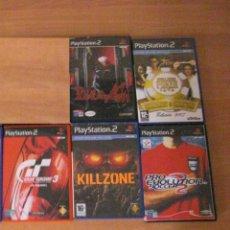 Videojuegos y Consolas: 5 JUEGOS PS2 - , DEVIL MAY CRY , KILLZONE GRAN TURISMO 3 ETC. Lote 135993518