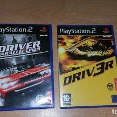 Videojuegos y Consolas: 2 JUEGOS DRIVER 3 + PARALLEL LINES PS2 PAL ESPAÑA COMPLETOS. Lote 137795838