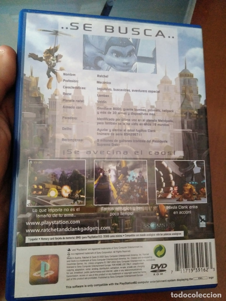Videojuegos y Consolas: juego de ps2 ratchet & clank - Foto 2 - 145576089
