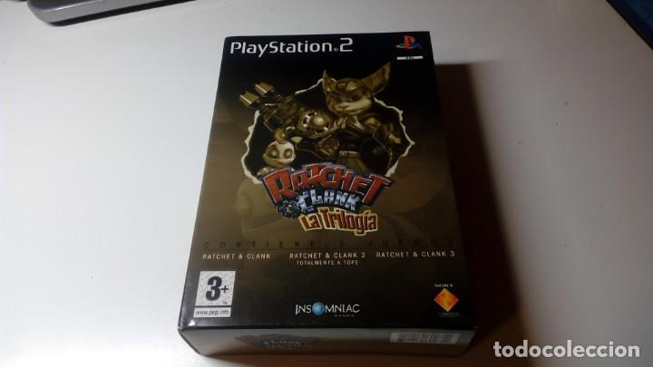 TRILOGIA RATCHET AND CLANK EDICION LIMITADA PS2 PLAY STATION 2 DOS PAL FUNCIONANDO PERFECTAMENTE (Juguetes - Videojuegos y Consolas - Sony - PS2)