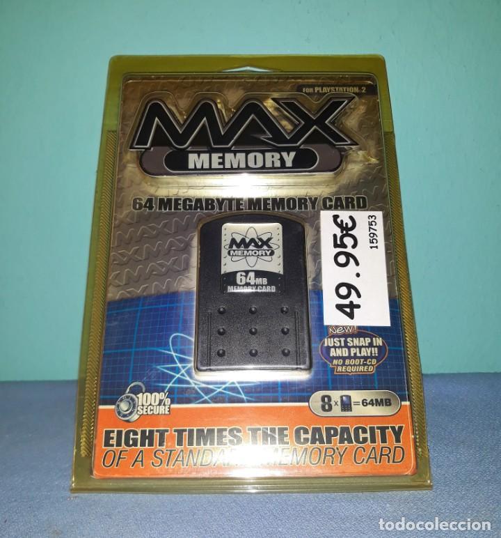 MAX MEMORY CARD 64 MB PARA PLAYSTATION 2 A ESTRENAR VER FOTOS Y DESCRIPCION (Juguetes - Videojuegos y Consolas - Sony - PS2)