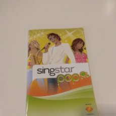 Videojuegos y Consolas: MANUAL DE INSTRUCCIONES SING STAR POP PLAYSTATION 2 (PS2). Lote 142166512