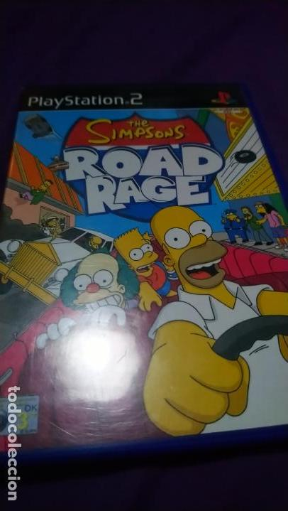 ROAD RAGE SIMPSONS PS2 PLAYSTATION 2 COMPLETO PAL-UK