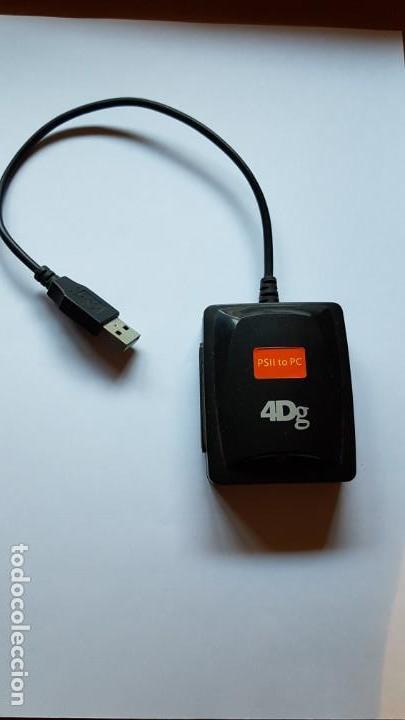 ADAPTADOR DE PS2 (PLAYSTATION 2) A USB PC 4DG (Juguetes - Videojuegos y Consolas - Sony - PS2)