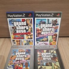 Videojogos e Consolas: PS2 PLAY STATION 2 GRAND THEFT AUTO GTA COLECCION VICE CITY, STORIES , SAN ANDREAS , LIBERTY CITY . Lote 144194334
