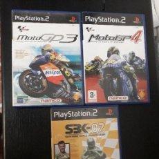 Videojuegos y Consolas: 08-00325 -26-27 PS2-PACK MOTOS. Lote 146568350