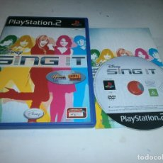 Videojuegos y Consolas: DISNEY SING IT POP HITS PLAYSTATION 2 PAL ESPAÑA . Lote 147412346