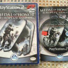Videojuegos y Consolas: MEDAL OF HONOR EUROPEAN ASSAULT MOH EA PS2 PLAYSTATION 2 PLAY STATION TWO KREATEN INGLES. Lote 147503714