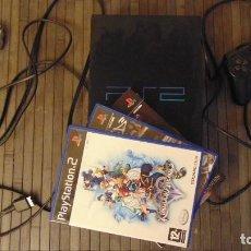 Videojuegos y Consolas: PS2 COMPROBADA Y CON TRES DE SUS MEJORES JUEGOS COMPLETOS CON TODAS LAS GUIAS Y EXTRAS Y UN MANDO. Lote 147659050
