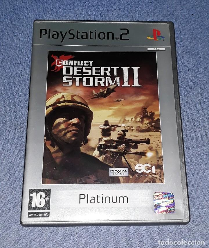 JUEGO COMPLETO PLAYSTATION PS2 DESERT STORM II ORIGINAL EN MUY BUEN ESTADO VER FOTOS (Juguetes - Videojuegos y Consolas - Sony - PS2)
